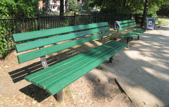 painted-park-bench