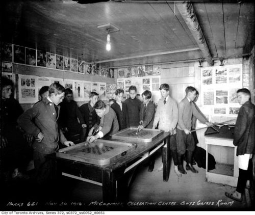 McCormick Recreation Centre - Boys Games Room 1916
