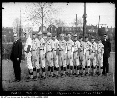 McCormick Park Baseball Champs - October 1921