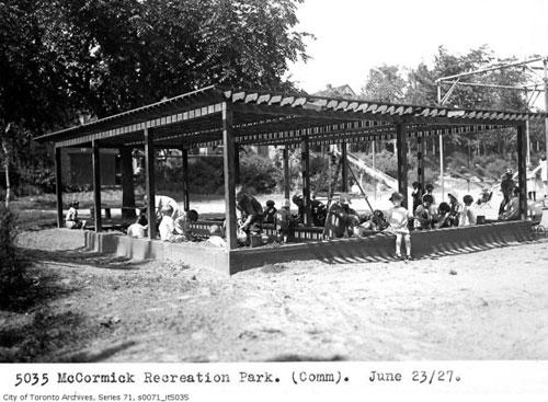 McCormick Park Sandbox - 1927