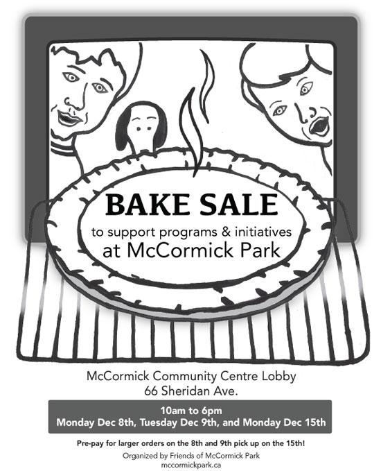 mccormick park bake sale